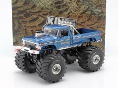 Ford F-250 Monster Truck Bigfoot #1 66 inch tires 1974 blue 1:18 Greenlight