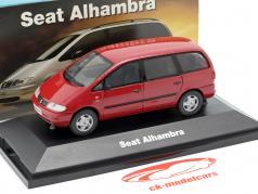 Seat Alhambra I année de construction 1996-2010 rouge 1:43 Seat