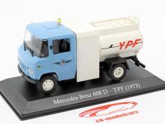 Mercedes-Benz 608 D YPF année de construction 1973 lumière bleu / blanc 1:43 Altaya