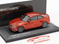 BMW M2 Competition année de construction 2019 sunset orange 1:43 Minichamps