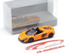 McLaren 675LT Spider Bouwjaar 2016 oranje 1:87 Minichamps