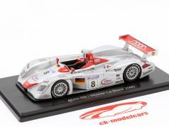 Audi R8 #8 ganador 24h LeMans 2000 Kristensen, Pirro, Biela 1:43 Spark