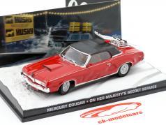 Mercury Cougar película de James Bond coches en Su secreto roja 1:43 Ixo Majestad