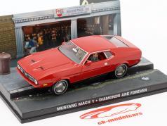 Ford Mustang Mach 1 James Bond Film Bil Diamonds are Forever rød 1:43 Ixo