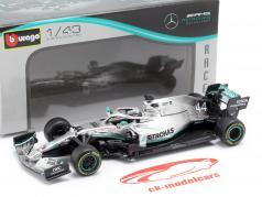 L. Hamilton Mercedes-AMG F1 W10 EQ #44 fórmula 1 campeón del mundo 2019 1:43 Bburago