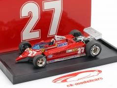 Gilles Villeneuve Ferrari 126CK #27 Duelo con F-104 Istrana 1981 1:43 Brumm