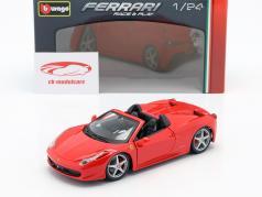 Ferrari 458 Spider rojo 1:24 Bburago