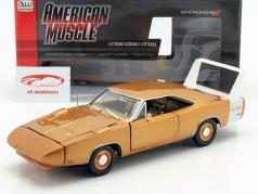 Dodge Charger Daytona year 1969 bronze metallic 1:18 Autoworld