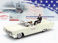 Lincoln Continental MK III Cabriolet 1958 J. F. Kennedy avec figurines 1:18 SunStar