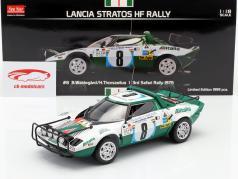 Lancia Stratos HF #8 3rd Safari Rallye 1975 Waldegard, Thorszelius 1:18 SunStar