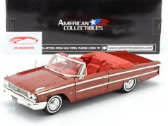 Ford Galaxie 500 XL Open Converteerbaar 1963 kastanje 1:18 SunStar