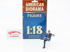 Zitten Monteur Figuur #1 1:18 American Diorama