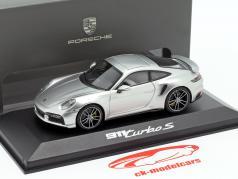 Porsche 911 (992) Turbo S year 2020 GT silver 1:43 Minichamps