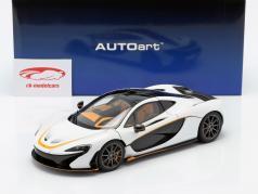 McLaren P1 Année de construction 2013 blanc / noir / orange 1:18 AUTOart