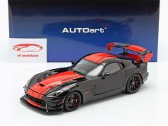 Dodge Viper ACR 建設年 2017 黒人 / 赤 1:18 AUTOart