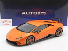 Lamborghini Huracan Performante 建設年 2017 anthaeus オレンジ色 1:12 AUTOart
