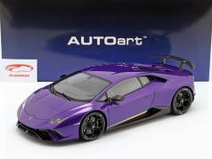 Lamborghini Huracan Performante Année de construction 2017 perle pourpre 1:12 AUTOart