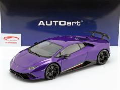 Lamborghini Huracan Performante year 2017 pearl purple 1:12 AUTOart