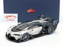 Bugatti Vision GT 建設年 2015 銀色 / 炭素 青 1:18 AUTOart