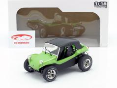 Meyers Manx Buggy met Softtop Bouwjaar 1968 groen metallic / zwart 1:18 Solido