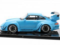 Porsche 911 (993) RWB Rauh-Welt azul 1:43 Ixo