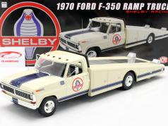 Ford F350 Ramp Truck Shelby Racing  year 1970 white 1:18 GMP