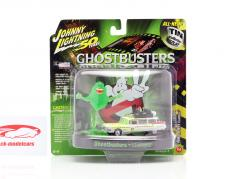 Cadillac Eldorado Ecto 1A 1959 Ghostbusters with Figure Slimer 1:64 Johnny Lightning