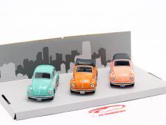 3-Car Set Volkswagen VW Beetle B130 1:43 Cararama