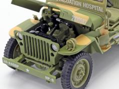 Willys MB Medical Jeep 4x4 US Army 建设年份 1941 伪装 1:18 Autoworld