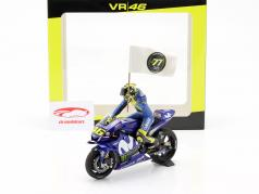 Valentino Rossi Yamaha YZR-M1 #46 3rd MotoGP Katalonien 2018 1:12 MInichamps