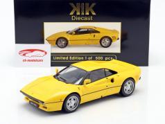 Ferrari 288 GTO Bouwjaar 1984 geel 1:18 KK-Scale