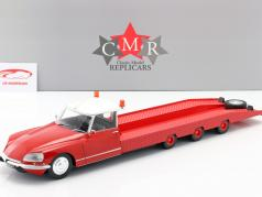Citroen DS Tissier Car transporter year 1970 red 1:18 CMR