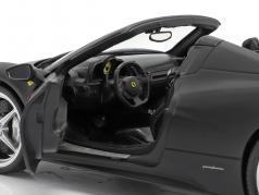 Ferrari 458 Italia Паук вып 2011 матовый черный 1:18 HotWheels наследия