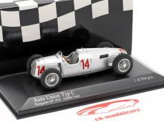 Achille Varzi Auto Union Typ C #14 Hongrois GP Formule 1 1936 1:43 Minichamps