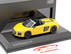 Audi R8 Spyder V10 vegas amarelo 1:43 Herpa