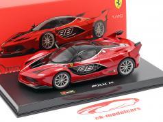 Ferrari FXX-K #88 rood / zwart 1:43 Bburago Signature