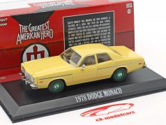 Dodge Monaco 1978 The Greatest American Hero (1981-83) green rims 1:43 Greenlight