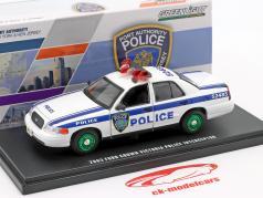 Ford Crown Victoria Police Interceptor 2003 white / blue / green 1:43 Greenlight
