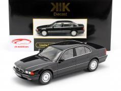 BMW 740i E38 1.Serie Ano de construção 1994 preto metálico 1:18 KK-Scale