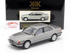 BMW 740i E38 1.Serie Baujahr 1994 silbergrau metallic 1:18 KK-Scale