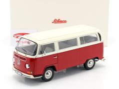 Volkswagen VW T2a bus Byggeår 1967 rød / hvid 1:18 Schuco
