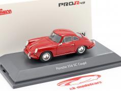 Porsche 356 SC Coupe Ano de construção 1961-1963 vermelho 1:43 Schuco