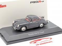 Porsche 356 SC Coupe Ano de construção 1961-1963 cinza 1:43 Schuco