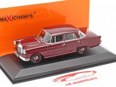 Mercedes-Benz 190 Heckflosse year 1961 dark red 1:43 Minichamps