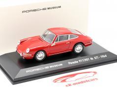 Porsche 911 (901 Nr. 57) Année de construction 1964 rouge 1:43 Welly