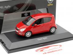 Opel Agila Mk2 Année de construction 2008 rouge 1:43 Schuco