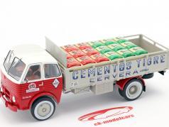 Pegaso 1031 Transporter Cementos Tigre 1960 red / white / Gray 1:43 Altaya
