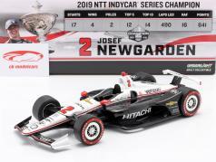 Josef Newgarden Chevrolet #2 Kampioen Indycar Series 2019 1:18 Greenlight