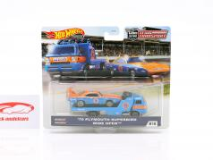 Set Team Transport: Plymouth Superbird 1970 & Wide Open 1:64 HotWheels