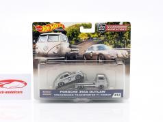 Set Team Transport: Porsche 356A Outlaw & VW T1 Pick-Up 1:43 HotWheels